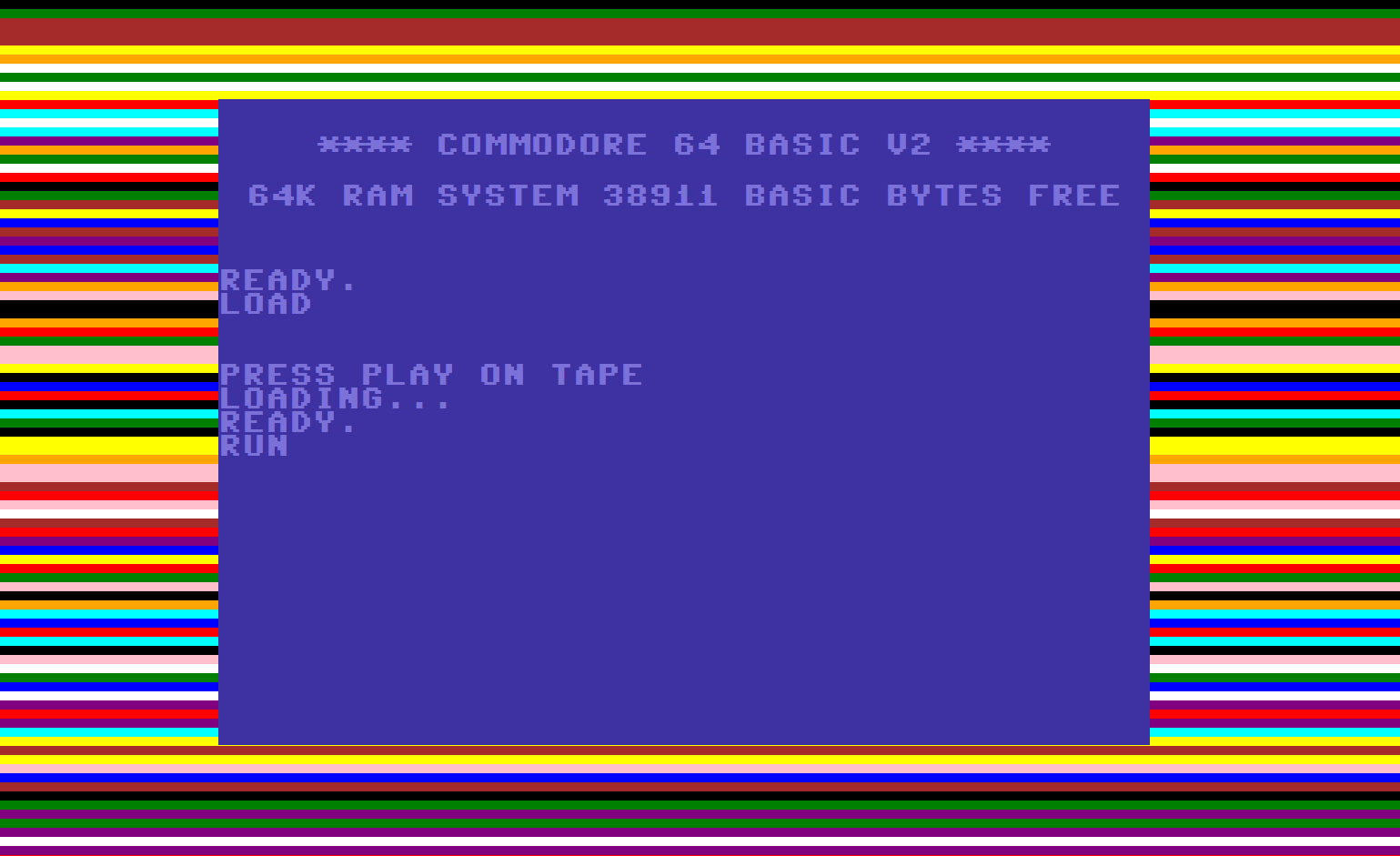 Image result for commodore 64 game loading screen